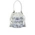 Loeffler Randall Women's Mini Industry Perforated Bucket Bag - Porcelain Print/White: Image 5