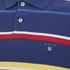 GANT Men's Multi Stripe Pique Polo Shirt - Persian Blue: Image 3