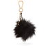 Dune Jaspers Faux Fur Pom Pom Keyring - Black: Image 1