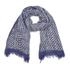 Diane von Furstenberg Women's Painterly Chainlink Print Scarf - Blue: Image 1