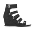 Opening Ceremony Women's Pebbled Nubuck Olivia Wedged Sandals - Black: Image 1