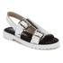 Opening Ceremony Women's Mirror Leather Double Strap Sandals - Silver: Image 5