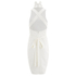 Lavish Alice Women's Cross Strap Tie Detail High Neck Midi Dress - White: Image 3