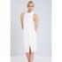 Lavish Alice Women's Cross Strap Tie Detail High Neck Midi Dress - White: Image 2