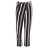 Lavish Alice Women's Stripe Crossover D-Ring Peg Leg Trousers - Black/Cream/Burgundy: Image 1