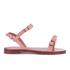 REDValentino Women's Eyelet Bow Flat Sandals - Nude: Image 1