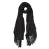 BeckSöndergaard Women's Kamo Leather Tassle Wool Scarf - Black: Image 1