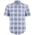 BOSS Green Men's Bicron Check Shirt - Medium Blue: Image 1