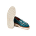 Grenson Women's Juno Leather Frill Loafers - Teal Rub Off: Image 6