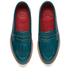 Grenson Women's Juno Leather Frill Loafers - Teal Rub Off: Image 2