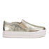 Ash Women's Jungle Leather Flatform Slip-on Trainers - Platine: Image 1