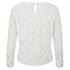 Diane von Furstenberg Women's Belle Emb Long Sleeve Lace Top - White: Image 2