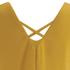 VILA Women's Sora Short Sleeve Blouse - Golden Yellow: Image 4