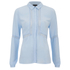 VILA Women's Pama Long Sleeve Shirt - Cashmere Blue: Image 1