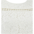 VILA Women's Bassi Short Sleeve Lace Top - Snow White: Image 3