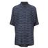 VILA Women's Very Short Sleeve Striped Shirt - Total Eclipse: Image 1