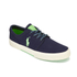 Polo Ralph Lauren Men's Faxon Canvas Trainers - Newport Navy/ Ultra Lime: Image 4