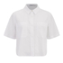 T by Alexander Wang Women's Cotton Poplin Cropped Short Sleeve Shirt - Sky: Image 1