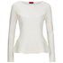 HUGO Women's Scilly Knitted Jumper - White: Image 1