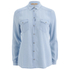 BOSS Orange Women's Crop Denim Shirt - Blue: Image 1