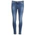 BOSS Orange Women's J10 Florida Frayed Cuff Jeans - Blue: Image 1