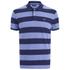 GANT Men's Barstripe Pique Rugger Polo Shirt - Lavender Blue: Image 1