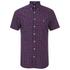 Gant Men's Poplin Check Short Sleeve Shirt - Red: Image 1