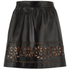 REDValentino Women's Cut Out Leather Skirt - Black: Image 1