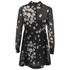 REDValentino Women's Daisy Print High Neck Dress - Black: Image 2