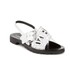 KENZO Women's Kruise Buckle Leather Sandals - White: Image 5