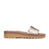 See by Chloe Women's Leather Slide Sandals - Gold: Image 1