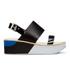 Paul Smith Shoes Women's Bennet Leather Flatform Sandals - Black Charol Patent: Image 1
