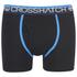 Crosshatch Men's Lightspeed 2-Pack Boxers - Neon Blue/Black: Image 4
