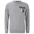 Alexander Wang Men's Crew Neck Sweatshirt With Barcode Patches - Heather Grey: Image 1