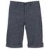 J.Lindeberg Men's Linen Mix Shorts - Navy: Image 1