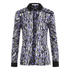 Carven Women's Printed Blouse - Silver/Black/Lilac: Image 1