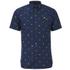 Lyle & Scott Vintage Men's Short Sleeve Micro Print Poplin Shirt - Navy: Image 1