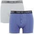 Tokyo Laundry Men's Kings Cross 2 Pack Button Boxers - Optic White/Cornflower Blue: Image 1