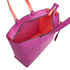 Calvin Klein Women's Sofie Perforated Large Saffiano Tote Bag - Berry: Image 4