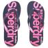 Superdry Women's Scuba Flip Flops - French Navy/Fluro Pink: Image 1