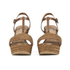 UGG Women's Fitchie T Bar Wedged Sandals - Rust: Image 4