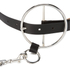 McQ Alexander McQueen Women's Circle Buckle Slim Belt - Black: Image 3
