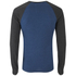Brave Soul Men's Osbourne Raglan Long Sleeve Top - Vintage Blue Marl: Image 2