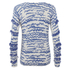 Karl Lagerfeld Women's Fringe Squiggle Sweatshirt - Blue: Image 2