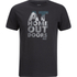 Jack Wolfskin Men's Slogan T-Shirt - Phantom: Image 1