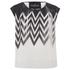 Designers Remix Women's Tilt Graphic Top - Black/White: Image 1