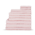 Highams 100% Egyptian Cotton 10 Piece Towel Bale (550gsm) - Pink: Image 1