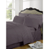 Highams 100% Egyptian Cotton Plain Dyed Fitted Sheet - Vintage Mauve: Image 1