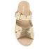 MICHAEL MICHAEL KORS Women's Sawyer Slide Sandals - Pale Gold: Image 3