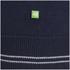 BOSS Green Men's Zime Zip Neck Knit Jumper - Navy: Image 6